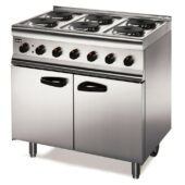 Lincat Silverlink 600 Electric Free-standing Oven Range - Castors at Rear - 6 Plates - W 900 mm - 16.5 kW [3-Phase]