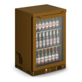 IMC Mistral M60 Bottle Cooler [Front Load] - Glass Door - Brown Painted Frame - H 900 mm - W 600 mm - 0.225 kW