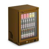 IMC Mistral M60 Bottle Cooler [Front Load] - Glass Door - Brown Painted Frame - H 850 mm - W 600 mm - 0.225 kW
