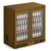 IMC Mistral M90 Bottle Cooler [Front Load] - Glass Door - Brown Painted Frame - H 900 mm - W 900 mm - 0.232 kW