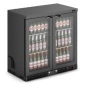 IMC Mistral M90 Bottle Cooler [Front Load] - Glass Door - Black Painted Frame - H 900 mm - W 900 mm - 0.232 kW