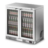 IMC Mistral M90 Bottle Cooler [Front Load] - Glass Door - Silver Painted Frame - H 900 mm - W 900 mm - 0.232 kW