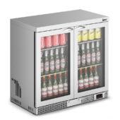 IMC Mistral M90 Bottle Cooler [Front Load] - Glass Door - Stainless Steel Frame - H 850 mm - W 900 mm - 0.232 kW