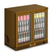 IMC Mistral M90 Bottle Cooler [Front Load] - Glass Door - Brown Painted Frame - H 850 mm - W 900 mm - 0.232 kW
