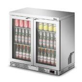 IMC Mistral M90 Bottle Cooler [Front Load] - Glass Door - Silver Painted Frame - H 850 mm - W 900 mm - 0.232 kW