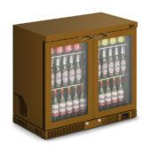 IMC Mistral M90 Bottle Cooler [Front Load] - Glass Door - Brown Painted Frame - H 800 mm - W 900 mm - 0.232 kW