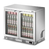 IMC Mistral M90 Bottle Cooler [Front Load] - Glass Door - Silver Painted Frame - H 800 mm - W 900 mm - 0.232 kW