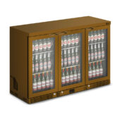 IMC Mistral M135 Bottle Cooler [Front Load] - Glass Door - Brown Painted Frame - H 900 mm - W 1350 mm - 0.357 kW