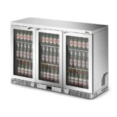 IMC Mistral M135 Bottle Cooler [Front Load] - Glass Door - Silver Painted Frame - H 900 mm - W 1350 mm - 0.357 kW