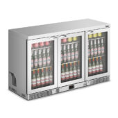 IMC Mistral M135 Bottle Cooler [Front Load] - Glass Door Door - Stainless Steel Frame - H 800 mm - W 1350 mm - 0.357 kW