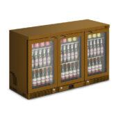 IMC Mistral M135 Bottle Cooler [Front Load] - Glass Door - Brown Painted Frame - H 800 mm - W 1350 mm - 0.357 kW
