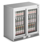 IMC Mistral M90 Bottle Cooler [Front Load] - Sliding Glass Doors - Stainless Steel Frame - H 900 mm - W 900 mm - 0.46 kW