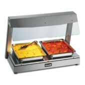 Seal Counter-top Heated Display with Gantry - 2 x 1/1 GN - W 790 mm - 1.5 kW