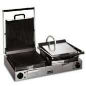 Lynx 400 Electric Counter-top Twin Panini Grill - Ribbed Upper & Lower Plates - W 623 mm - 4.5 kW