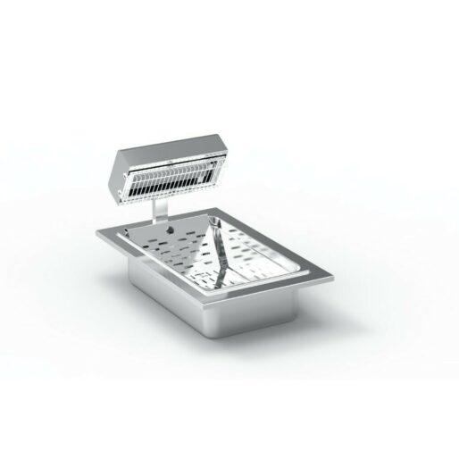 FriFri Silofrit Electric Built-in Chip Scuttle - W 400 mm - 0.65 kW