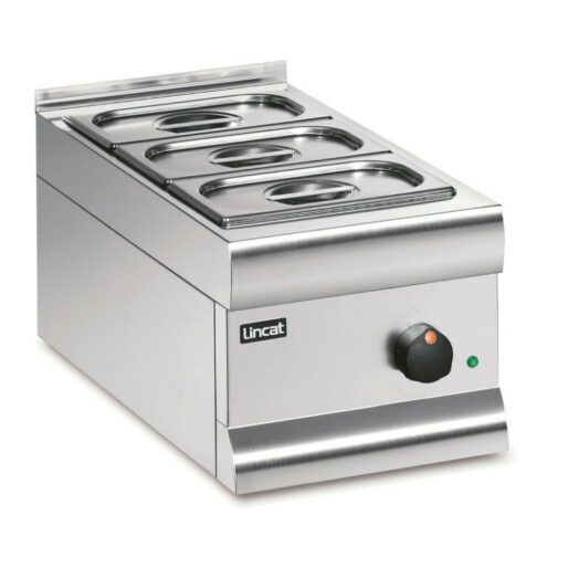 Lincat Silverlink 600 Electric Counter-top Bain Marie - Dry Heat - Gastronorms - Base + Dish Pack - W 300 mm - 0.5 kW