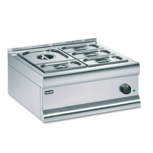 Lincat Silverlink 600 Electric Counter-top Bain Marie - Dry Heat - Gastronorms - Base + Dish Pack - W 600 mm - 0.75 kW