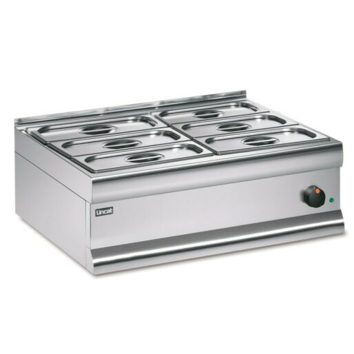 Lincat Silverlink 600 Electric Counter-top Bain Marie - Dry Heat - Gastronorms - Base + Dish Pack - W 750 mm - 1.0 kW
