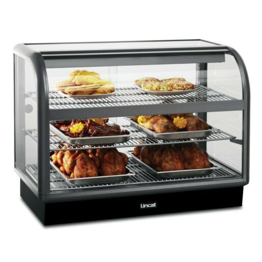 Lincat Seal 650 Series Counter-top Curved Front Heated Merchandiser - Back-Service - W 1000 mm - 2.02 kW