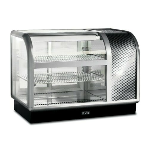 Lincat Seal 650 Series Counter-top Curved Front Refrigerated Merchandiser - Back-Service - Side-Mounted Power Pack [Right] - W 1050 mm - 0.6 kW
