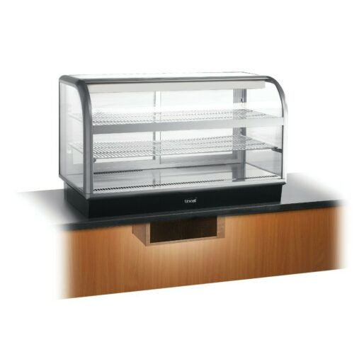 Seal 650 Series Counter-top Curved Front Refrigerated Merchandiser - Back-Service - Under-Counter Power Pack - W 1250 mm - 0.7 kW