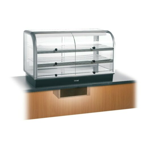 Lincat Seal 650 Series Counter-top Curved Front Refrigerated Merchandiser - Self-Service - Under-Counter Power Pack - W 1250 mm - 0.7 kW