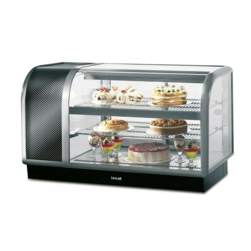 Seal 650 Series Counter-top Curved Front Refrigerated Merchandiser - Back-Service - Side-Mounted Power Pack [Left] - W 1300 mm - 0.7 kW