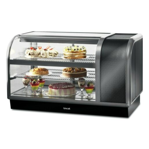 Seal 650 Series Counter-top Curved Front Refrigerated Merchandiser - Back-Service - Side-Mounted Power Pack [Right] - W 1300 mm - 0.7 kW