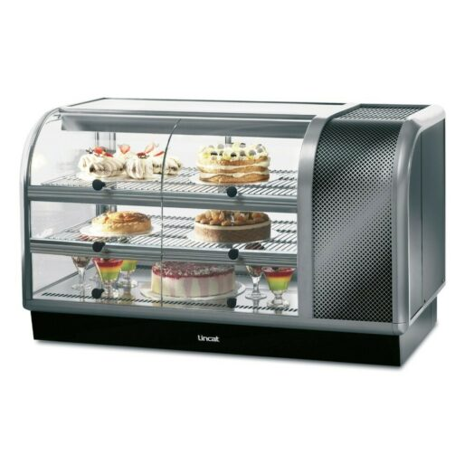 Seal 650 Series Counter-top Curved Front Refrigerated Merchandiser - Self-Service - Side-Mounted Power Pack [Right] - W 1300 mm - 0.7 kW