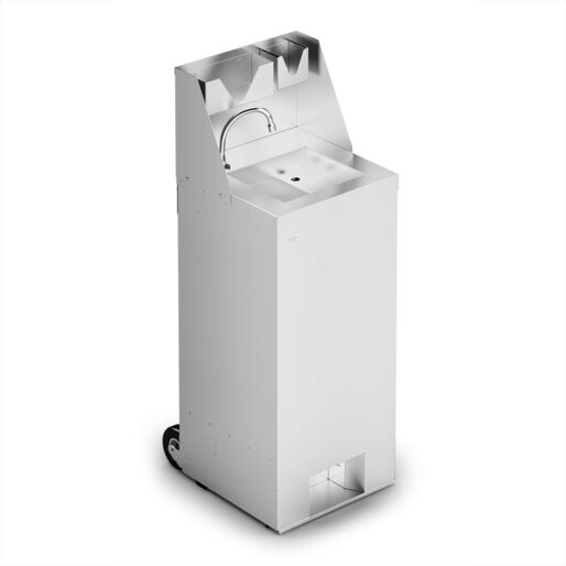 IMC Mobile Hand Wash Station with Splashback, Soap & Paper Towel Holder - W 450mm - 3.0kW
