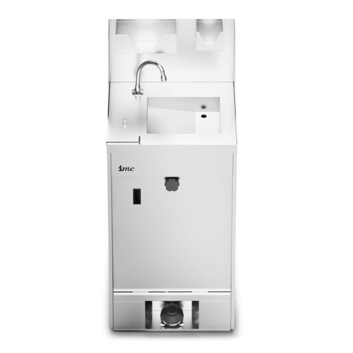 IMC IMClean High Capacity Mobile Hand Wash Station with Splashback, Soap & Paper Towel Holder - W 515mm - 3.0kW
