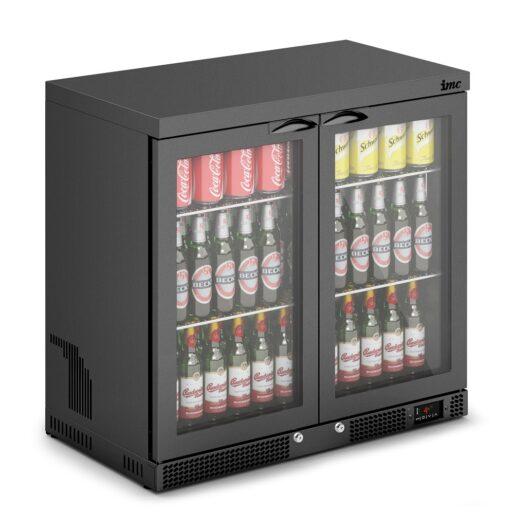 IMC Mistral M90 Bottle Cooler [Front Load] - Glass Door - Black Painted Frame - H 850 mm - W 900 mm - 0.46 kW