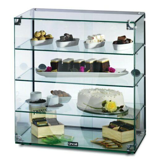 Lincat Seal Counter-top Glass Display Case - Rear Sliding Doors - W 607 mm