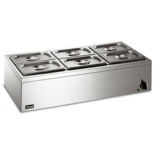 Lincat Lynx 400 Electric Counter-top Bain Marie - Dry Heat - inc. 6 x 1/4 GN Dishes - W 850 mm - 0.75 kW