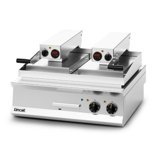 Lincat Opus 800 Electric Counter-top Clam Griddle - Flat Upper Plate - W 800 mm - 17.2 kW