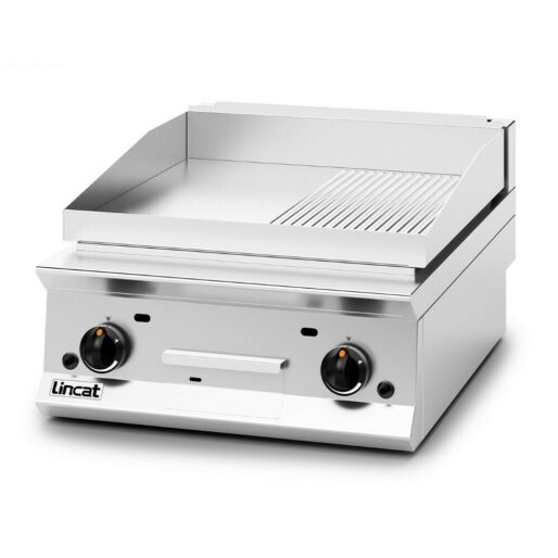 Lincat Opus 800 Propane Gas Counter-top Griddle - Ribbed Plate - W 600 mm - 15.5 kW