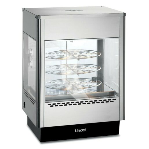 Lincat Seal Counter-top Upright Heated Merchandiser - Rotating Rack - Two doors - W 562 mm - 1.4 kW